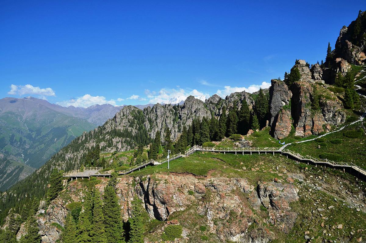 【新疆旅游】天山天池的马牙山特色有多美?