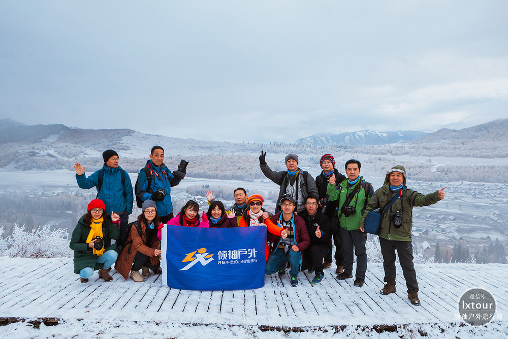 新疆喀納斯禾木秋景攝影:白雪映秋色,美若如油畫