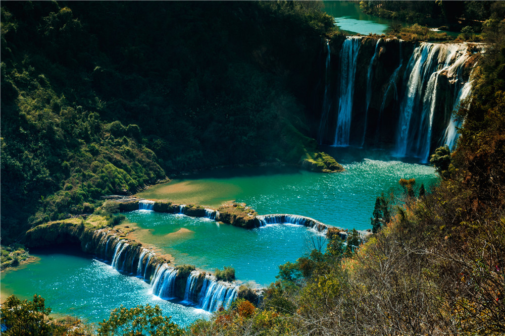 罗平旅游必去景点——九龙瀑布群