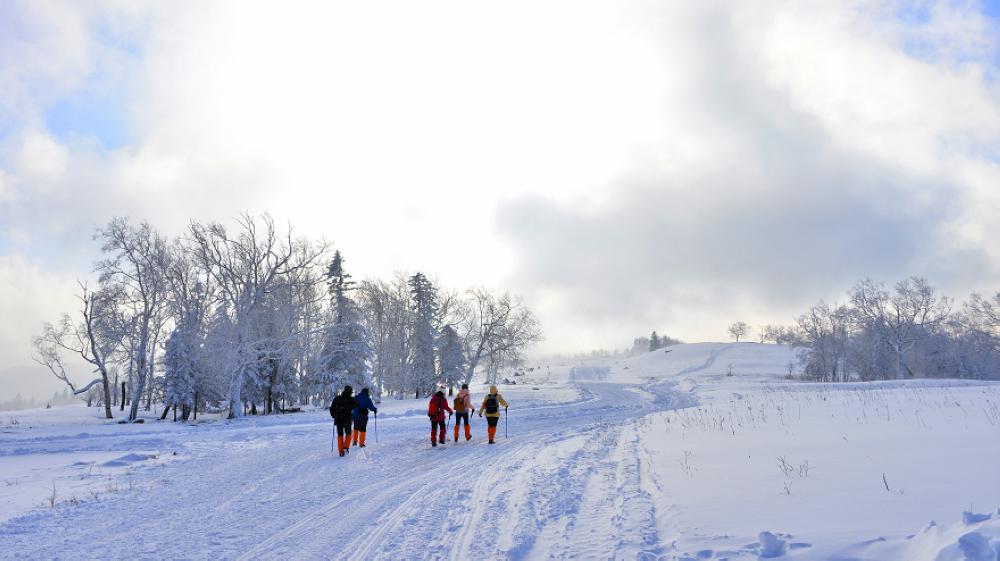 东升林场雪谷穿越