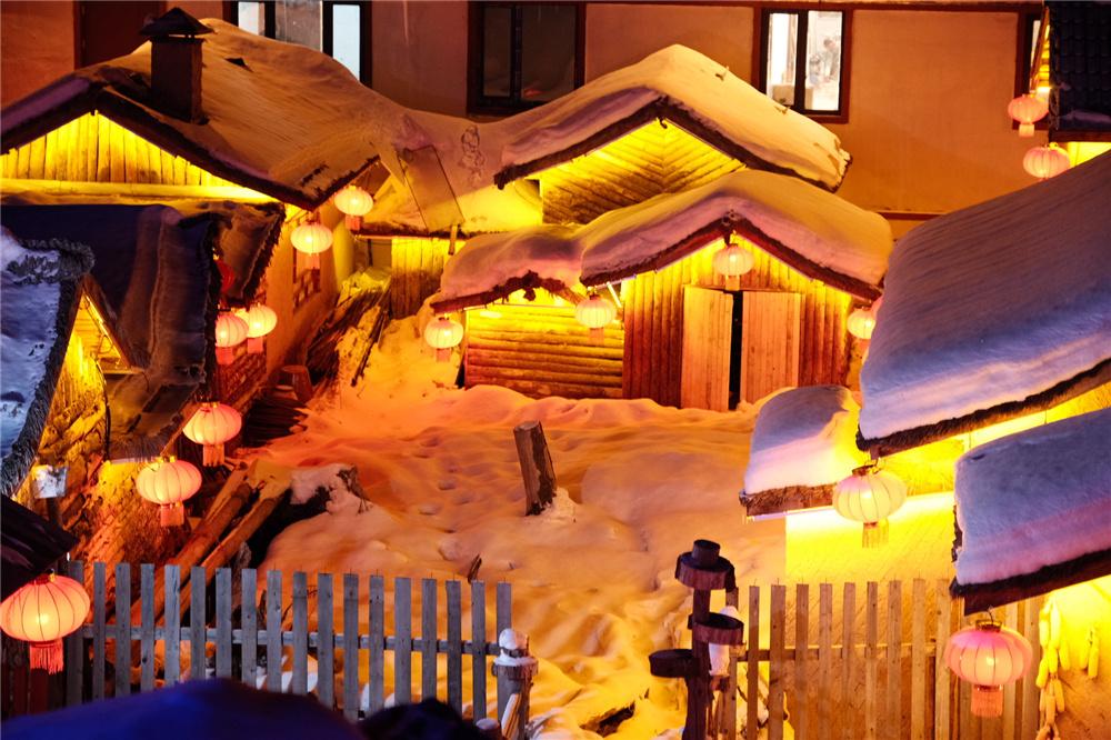 中國雪鄉夜景美不美?